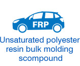 Unsaturated polyester resin bulk molding compound
